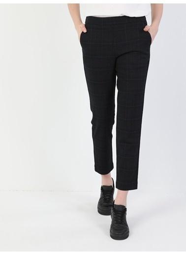 Colin's Slim Fit Düşük Bel Düz Paça Kadın Lacivert Pantolon Lacivert